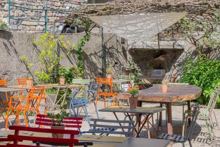 Il giardino del ristorante
